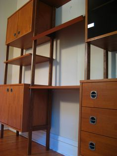 Furniture,Contemporary Modular Shelving Units Design Ideas With Brown Plywood Material And Classic Brown Wood Flooring Using White Wall Paint,Stylish Modern Modular Shelving Units Design Ideas