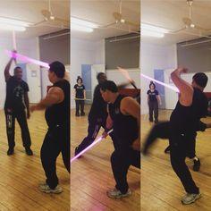 "New York Jedi on Instagram: ""Constant flow of movement #lightsaber #stagecombat #practice #jedi #sith #jeditraining #starwars #starwarsfan"""