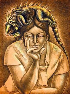 """""""Animals are such agreeable friends―they ask no questions, they pass no criticisms.""""    ~  George Eliot  Artist:  Raul Anguiano   <3 lis"""