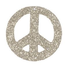 Holiday Ornaments - Peace Glitter Holiday Ornament - Paper Source