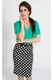 Ellipsis Pencil Skirt. La Posh Style. $43.99