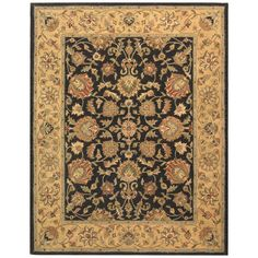 Found it at Wayfair - Heritage Charcoal/Gold Area Rug