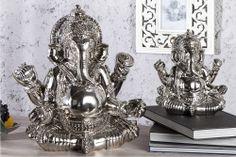 """Unsere kunstvoll gefertigte Deko - Statue """"GANESHA"""" ist im Aussehen der wohl bekanntesten Gottheit des indischen Hinduismus nachempfunden. Ganesha wird in der indischen Kultur als gnädiger, gütiger, freundlicher, humorvoller, jovialer, kluger, menschlicher, verspielter und schelmischer Gott vorgestellt!"""