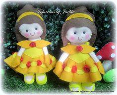 Fofurinhaaaaa essas mini princesinhas da Laís, cada um tem 15/16cm de altura…