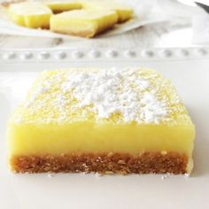 Skinny Lemon Bars recipe  make the crust with almond flour instead of wheat...
