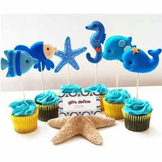 Under the Sea Friends Custom Party Toppers -  Premium Party Favors for Nautical Ocean Theme Celebrations, Weddings, Birthdays, Baby Showers
