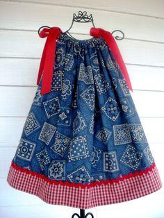 Bandana Pillowcase Dress 18 Month by LulamaesThings on Etsy