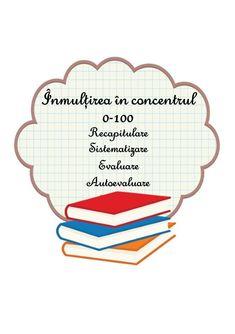 Înmulțirea în concentrul 0-100. Șapte teste / fișe de lucru pentru recapitulare, sistematizare, evaluare sau autoevaluare, clasa a II-a Homeschool, Teacher, Activities, Math, Professor, Math Resources, Mathematics, Homeschooling