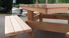 Table 4 bancs - table de jardin pas cher Picnic Table, Outdoor Furniture, Outdoor Decor, Home Decor, Gardens, Benches, Decoration Home, Room Decor, Home Interior Design