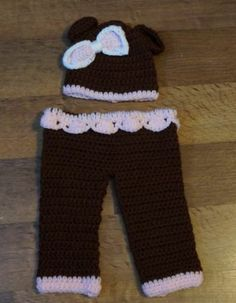 Crochet Photo Prop Baby Hat Diaper Cover Pant Newborn Pistachio | eBay