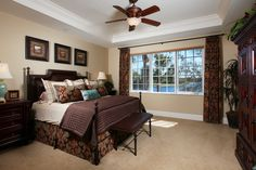 Master bedroom with stunning southern exposure lake views.