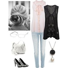 Black, White & Blush by raij-stapleton-carter on Polyvore