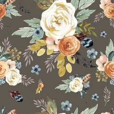 Western Autumn Mauve Flower - Darkest custom fabric by shopcabin for sale on Spoonflower Button Flowers, Home Decor Fabric, Custom Fabric, Hibiscus, Spoonflower, Mauve, Westerns, Exotic, Gift Wrapping