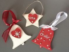 Wooden Christmas bell decoration personalised £3.95