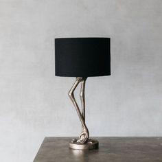 Silver Leggy Flamingo Table Lamp | Lighting | Graham & Green