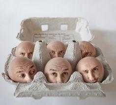 modern Surrealism: Photoshopped reality...brilliant egg heads, by brilliant artist ? (Via KlonBlog)