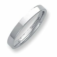 Palladium Flat Comfort Fit 3.00mm Band Ring - Size 5 - JewelryWeb JewelryWeb. $258.20. Save 50% Off!