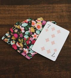 Windsor Floral Illustration Playing Cards by Karla Pruitt on Scoutmob Shoppe