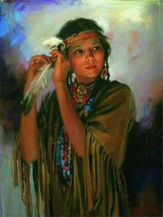 I would really like to have a portrait like this. American Indian Girl, Native American Children, Native American Wisdom, Native American Beauty, Native American History, American Indians, Native American Paintings, Native American Pictures, Indian Pictures