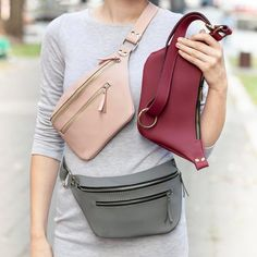 Leather fanny pack, fanny pack for women, belt bag, hip bag, bum bag, clothing fanny pack, Leather Hip Bag, waist bag, fanny packs women The bag has - one main compartment with a zipper; - two pockets inside; - one pocket on the front; - one pocket with a zipper on the back. Material: 100%