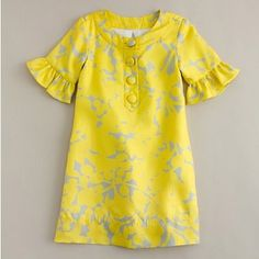 http://funxnd.info/?1325966    mod little party dress, J. Crew, yellow and grey, flower girl party dresses aundrea_scentsy