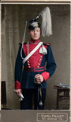 Proud lancer of the 2. Hannoversches Ulanen-Regt. Nr.14 in dark blue and carmine