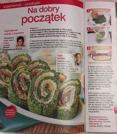 Rolada szpinakowa z łososiem Zucchini, Good Food, Food And Drink, Vegetables, Cooking, Recipes, Kitchen, Recipies, Vegetable Recipes