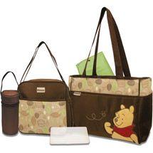 Walmart: Disney - Pooh 5-in-1 Diaper Bag Set
