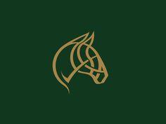 Horse Logo designed by Gareth Hardy. Connect with them on Dribbble; Best Logo Design, Branding Design, Logo Branding, Graphic Design, Logo Inspiration, Logo Caballo, Porte Design, Learning Logo, Horse Logo
