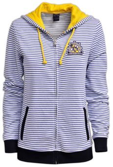 Felpa col cappuccio da donna Hooded Jacket, Athletic, Clothing, Jackets, Fashion, Stripes, Jacket With Hoodie, Outfits, Down Jackets