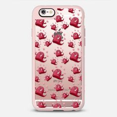 Monster Love - Transparent - New Standard Case @casetify #Casetify #iphonecase #phonecover #monsters #love #cute #red #clearcase