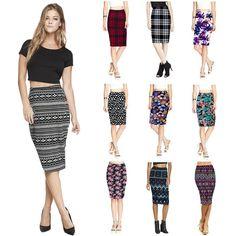 2015 Summer Vintage Fashion Pencil Skirt Women Knee-Length Elastic High Waist Printing Saias Femininas RL204 Online with $22.63/Piece on Blackfriday's Store   DHgate.com