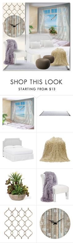 """Без названия #3069"" by ilona-828 ❤ liked on Polyvore featuring interior, interiors, interior design, home, home decor, interior decorating, Pottery Barn and Sterling"