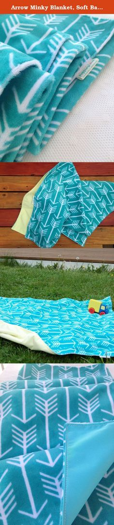 """Arrow Minky Blanket, Soft Baby Blanket, Gift for Baby, Gender Neutral Gift, Waterproof Lined Blanket, Indoor/Outdoor Baby Blanket. A Practical and Useful New Parent Gift! Lightweight and easy to take anywhere - Indoor and Outdoor; a soft and never crunchy Barrier Product Highlights Gender neutral, 30"""" x 40"""" Turquoise with White Arrow your choice of Butter Yellow or Bright Caribe waterproof backing Super soft minky top, backing is soft, breathable 100% liquidproof Great for: Stroller, Car..."""