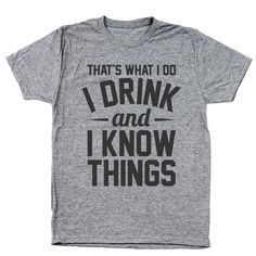 Drink And Know Things Men's Tri-Blend T-Shirt