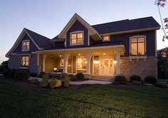 Plan W20081GA: Luxury, Corner Lot, Traditional, Southern, Country, Craftsman, Premium Collection, Photo Gallery House Plans Home Designs