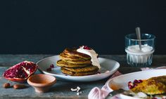 Pancakes    'Free from eggs, gluten, baking powder and dairy'     (12 small pancakes)