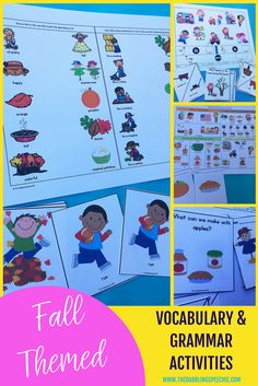 fall themed vocabula
