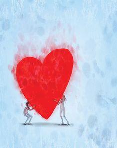 Lisa Congdon, Lisa Simpson, Mobile Wallpaper, Jar Of Hearts, Black Panther Art, I Love Heart, Crazy Heart, Heart Illustration, Watercolor Pictures