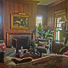 Small English Oak Paneling Sitting Room