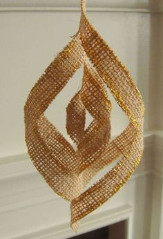burlap 3d snowflakes, crafts, decoupage, seasonal holiday decor, Or add a bit of glitter for a hint of sparkle