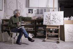Geoffrey Preston - in studio http://www.elizabethmachinpr.com/geoffrey-preston-plasterworks.html