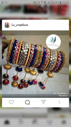 Silk Thread Bangles, Thread Jewellery, Gold Jewellery Design, Gold Jewelry, Blouse Designs Catalogue, Bridal Chura, Bengal, Indian Fashion, Paper Flowers
