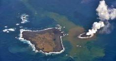 Cinzas e fragmentos de lava a explodir para fora do oceano anuncaram o nascimento de uma nova ilha vulcânica a cerca de 1000 quilómetros a sul de Tóquio, no Oceano Pacífico.
