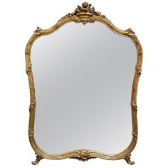 1stdibs   Gilt Mirror with Scroll and Ribbon Design