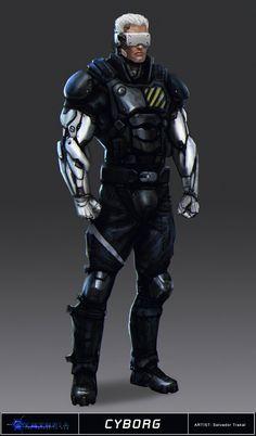 Cyntopia - Cyborg Concept Art by SaturnoArg.deviantart.com on @deviantART