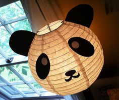 Panda lantern - would be easy to make with silhouette cameo!