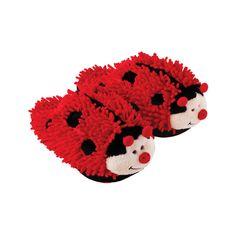 Lady Bug Fuzzy Friends Kids Slippers