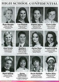 Photo of Glee High School Yearbook! for fans of Glee 11208019 Glee Memes, Glee Quotes, Film Quotes, High School Photos, High School Yearbook, School Pics, School Pictures, Friend Pictures, Jessalyn Gilsig