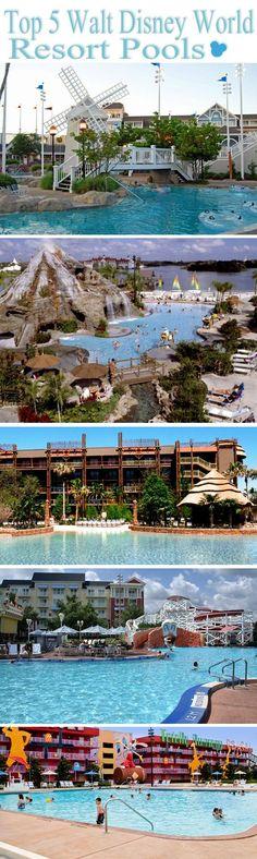 Top 5 Best Walt Disney World Resort Pools